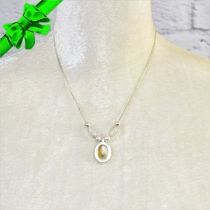 Jewelry - Faux Moonstone Pendant ~0cd40s0sc17